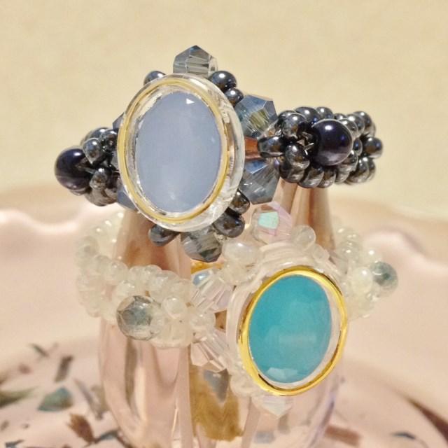 フレームビジューの指輪(2色)