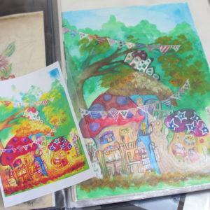 【アトリエ訪問】横浜市 童画家+雑貨クリエイターTOMYさん~憧れの作家様のアトリエに訪問!\