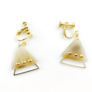 【ハンドメイドTV】大理石風マーブルパーツと日本製フレームパーツで三角イヤリング!★作り方・ポイント・必要なもの
