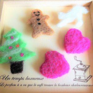 クッキー型を使えば超簡単♪羊毛フェルトでモチーフを作ろう!【ハンドメイド無料レシピ】 羊毛フェルト クッキー型\