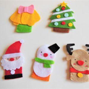 【ハンドメイド無料レシピ】フェルトで作る指人形 ~クリスマスver.~クリスマスは手作り指人形で遊ぼう!\