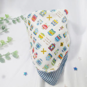 バンダナスタイ 直線縫いだけでOK!Wガーゼで作るバンダナ風スタイの作り方【ハンドメイドの基礎知識】初心者向け\