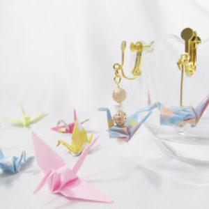 折り紙 アクセサリー !マニキュアで簡単!鶴、紙風船、リボン・・折り紙ピアス、イヤリングの作り方【ハンドメイド無料レシピ】\