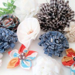 ファブリックフラワーの作り方♪布のお花でインテリアやアクセサリーに!【ハンドメイド無料レシピ】 ファブリックフラワー 作り方