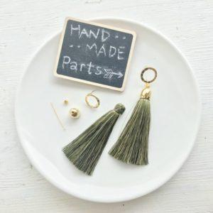 【ハンドメイド無料レシピ】タッセルキャップの使い方!付け方簡単♪ロングタッセルピアスの作り方\