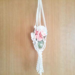 マクラメ編みに挑戦!編み方解説!グリーンハンギングの作り方【ハンドメイド無料レシピ】 マクラメ編み\