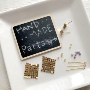 【ハンドメイド無料レシピ】メタルクロス(金属布)でキラキラピラピラ個性派ピアスの作り方・必要なもの\