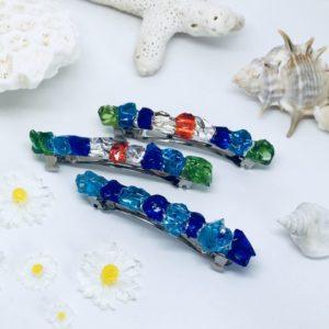 【素敵な作家さんシリーズ】アトリエ アジュールさん★発色の良い琉球ガラスや丸いガラスなどを使い、キラキラ輝く作品作りをしています!