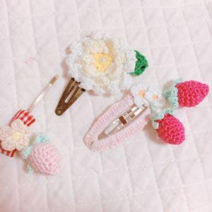 レース編み花と葉でヘアピンを作ろう!かぎ編みで簡単!編み図付きレシピ【ハンドメイド基礎知識】\