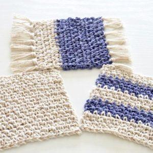 かぎ編みで編む簡単コースター!鎖編みと細編みをマスター! 編み方&編み図【ハンドメイド基礎知識】\