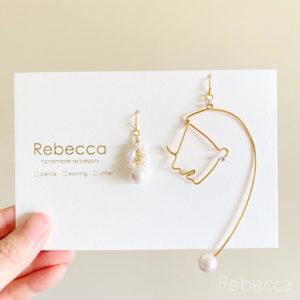 """【素敵な作家さんシリーズ】アクセサリー作家 Rebeccaさん☆""""耳元にエッセンスを""""個性的なワイヤー×レジンアクセサリーを製作しています。"""