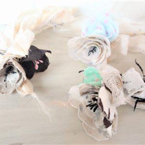 手作りマスク用の布余っていませんか?薔薇のコサージュへ変身術教えます!